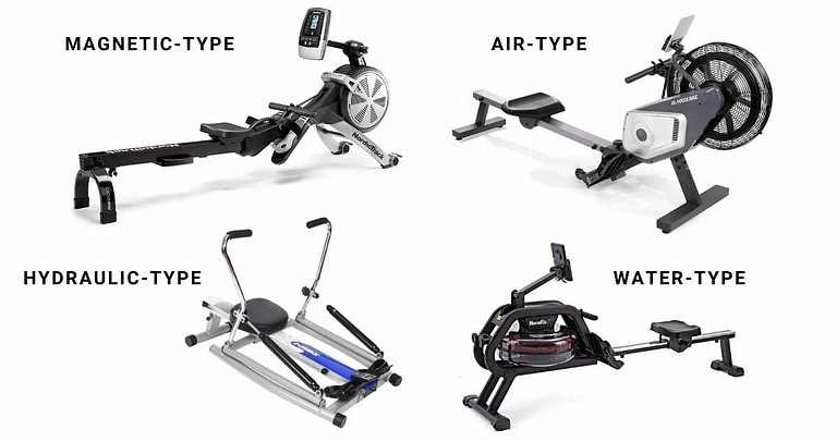 All Types of Rowing Machines And Rowing Gloves Shoes Home Accessories