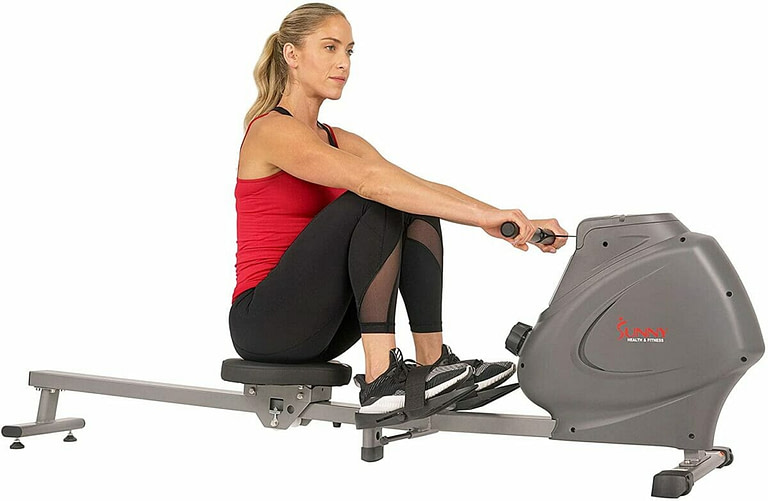 Sunny Health Fitness Compact Folding Magnetic Rowing Machine